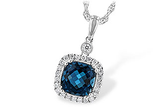 A198-83368: NECK 1.63 LONDON BLUE TOPAZ 1.80 TGW