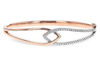 A198-89804: BANGLE BRACELET .50 TW (ROSE & WG)