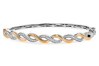 D198-87913: BANGLE BRACELET .42 TW (ROSE & WG)