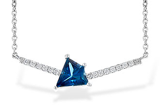 E199-79740: NECK .87 LONDON BLUE TOPAZ .95 TGW