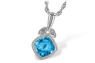 G196-16131: NECK 1.05 BLUE TOPAZ 1.06 TGW