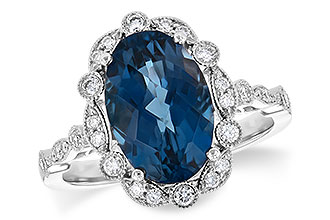 G199-75249: LDS RG 3.80 LONDON BLUE TOPAZ 4.06 TGW
