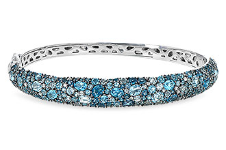 H199-76149: BANGLE 7.60 BLUE TOPAZ 7.85 TGW