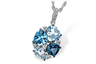 K198-83367: NECK 2.60 BLUE TOPAZ 2.70 TGW