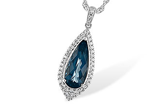 M198-85194: NECK 2.40 LONDON BLUE TOPAZ 2.65 TGW
